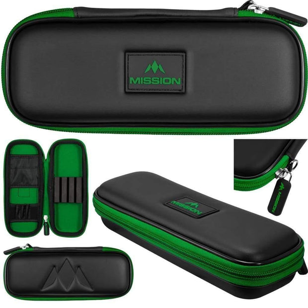 Freedom Slim Case Mission Darts available in 5 colour - Black/Green