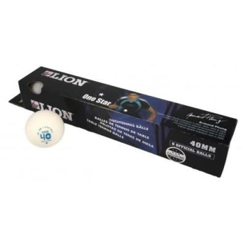 Lion One Star Table Tennis Balls (Pack of 6) - Available in