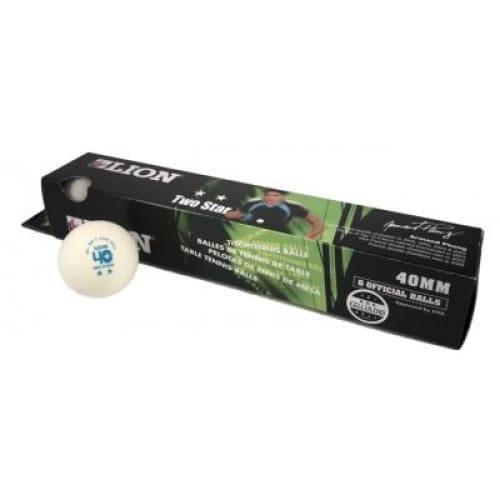 Lion Three Star Table Tennis Balls (Pack of 6) - Available