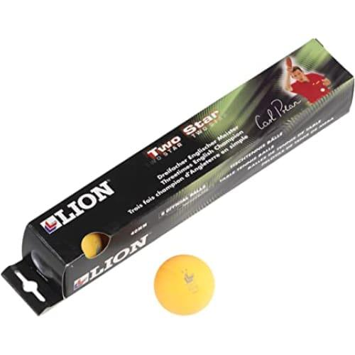 Lion Two Star Table Tennis Balls (Pack of 6) - Available in