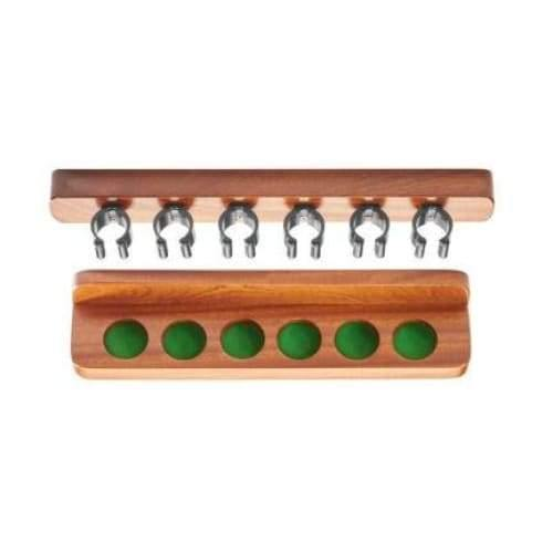 Mahogany Cue Rack with Nylon Clips