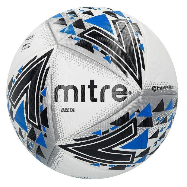 Mitre Delta Professional Ball - White/Black/Blue / Size 4