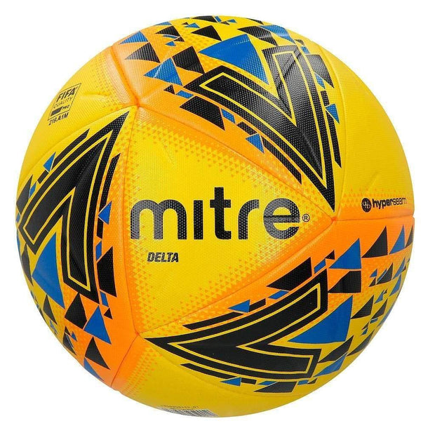 Mitre Delta Professional Ball - Yellow/Black/Blue / Size 4