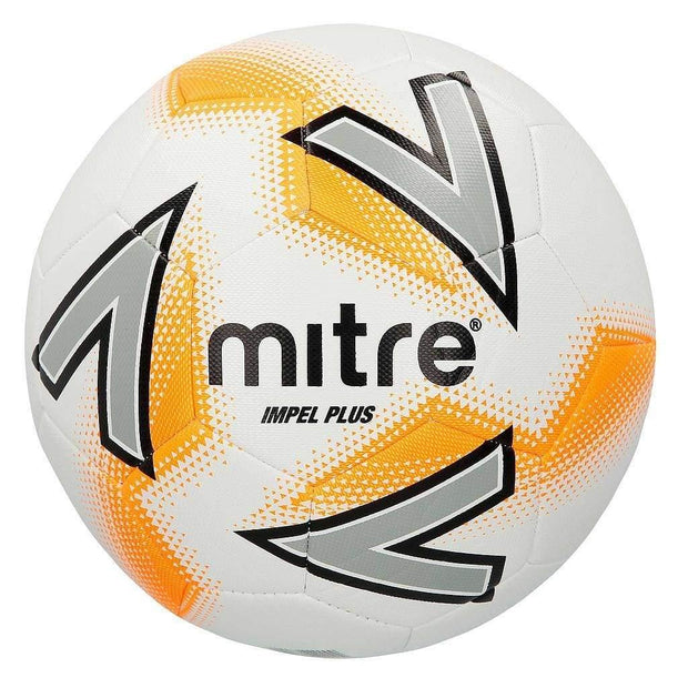Mitre Impel Plus Training Ball - White/Silver/Orange / Size