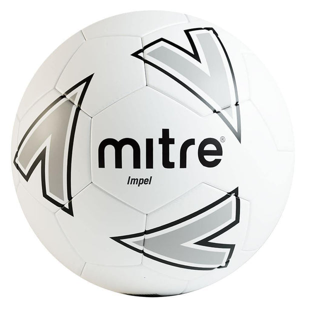 Mitre Impel Training Ball - White/Silver/Black / Size 4
