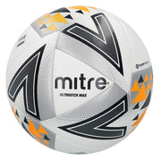 Mitre Ultimatch Max Match Ball - White/silver/orange / Size