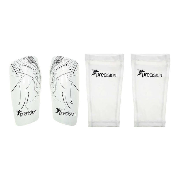 Precision Pro Matrix Shinguards - White/Black / Small