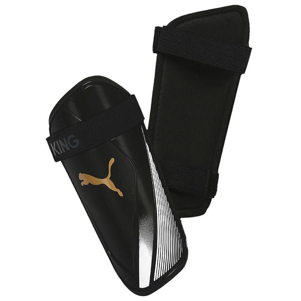 Puma King ES 2 Slip In Guards - Black/Gold / Small