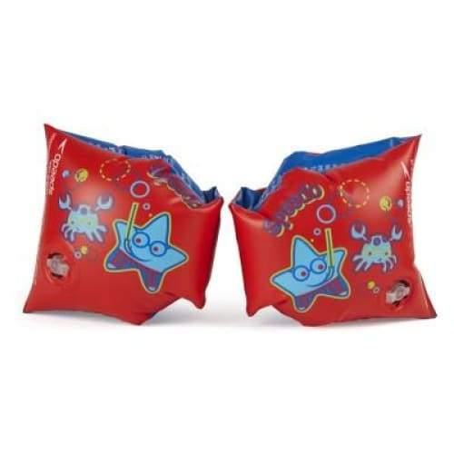 Speedo Sea Squad Armbands - Junior - Red/Blue