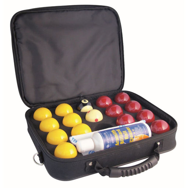 Super Aramith Pro Cup League Pool Balls & Nylon Ball Case