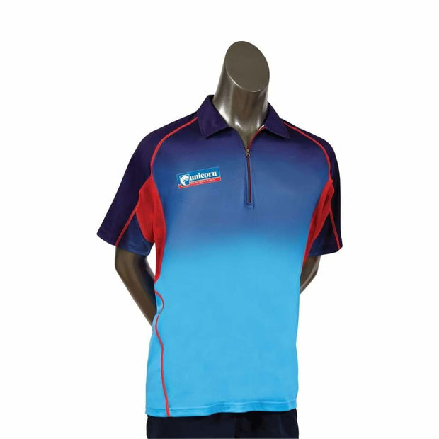 Unicorn Pro Dart Shirt - Blue & Red - Small - Clothes