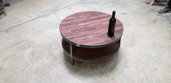 Wine Barrel Coffee Table - Kolo - FORTIFY Collection