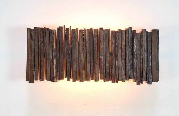 Wine Barrel Wall Light - Reverse Nellio - Made from reclaimed California wine barrels and rings