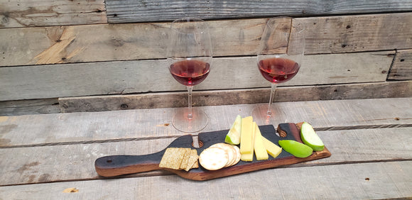 Barrel Stave Wine and Cheese Flight