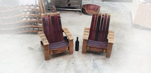 Opus 1 - Kids Adirondack Chair - 100% Reclaimed Wine Barrel Chair