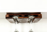 ORGANIZATION Collection - Komori - Under Cabinet Glass Holder - made from retired California wine barrels - 100% Recycled!