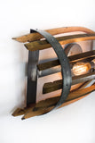 CRAFTSMAN Collection - Half Catch - Wine Barrel Stave Wall Sconce Or Vanity