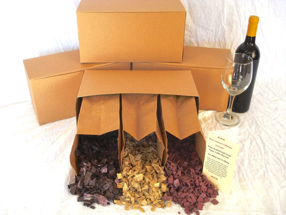 Wine Soaked Oak BBQ Smoker Chip Sampler - Retired California Wine Barrels - 100% Recycled + Free US Shipping!