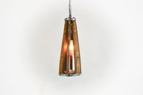 VEDI Collection - Koni - Wine Barrel Ring Pendant Light - Made from retired Rutherford California wine barrels