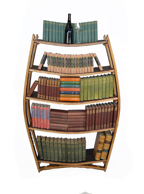 Amarone - Wine Barrel Bookcase
