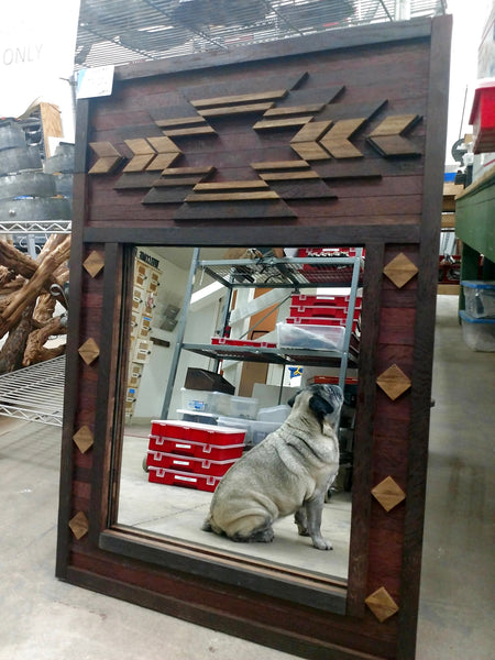 Wine Barrel Wall Mirror - Yucca Southwest Mirror