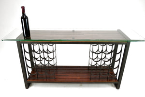 "FORTIFY Collection ""Lawa"" Modern Console Table / Wine Rack"