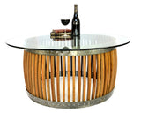 CRAFTSMAN Collection - Capparis - Wine Barrel Coffee Table