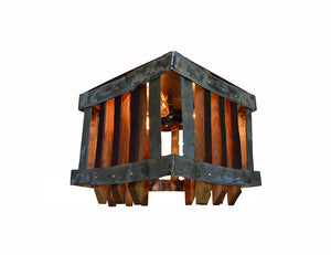 CRAFTSMAN Collection - Khamara - Wine Barrel Ceiling Light