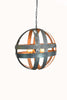 ATOM Collection - Cyclopean - Wine Barrel Double Ring Chandelier