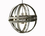 ATOM Collection - XL Cyclopean- Wine Barrel Double Ring Chandelier