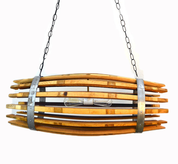 CRAFTSMAN Collection- Catch - Wine Barrel Chandelier