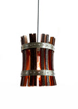 CRAFTSMAN Collection - Marda - Wine Barrel Stave Pendant Light
