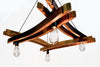 CRAFTSMAN Collection- Artessa - Wine Barrel Stave Chandelier