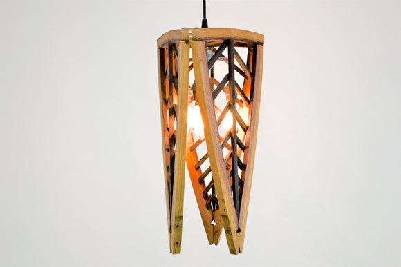 Tikari - Tri Panel Triangle Chevron Pendant Light