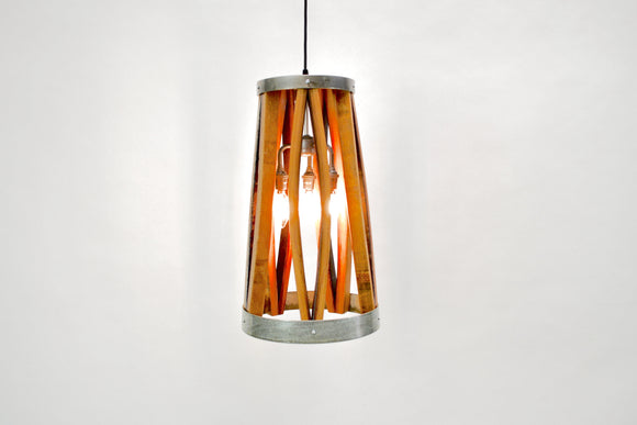 VEDI Collection - Bujur - Wine Barrel Wood and Ring Pendant Light