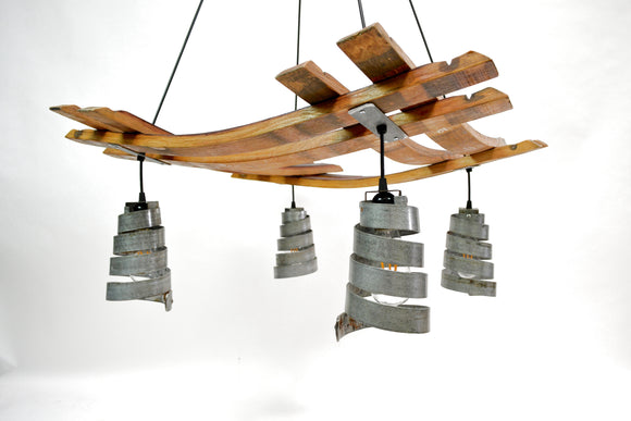CRAFTSMAN Collection - Corba Meryl - Wine Barrel Stave Chandelier