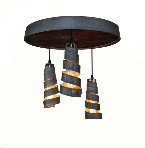 CORBA Collection - Tripoli - Adjustable Wine Barrel Head Chandelier