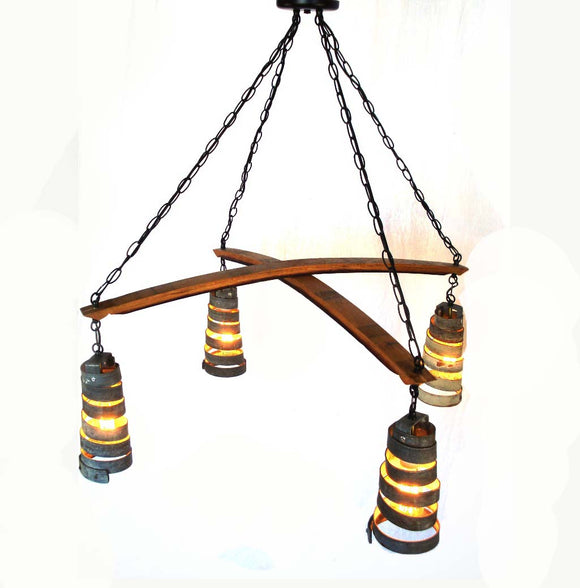 CORBA Collection - Intersect  -Wine Barrel Ring Chandelier