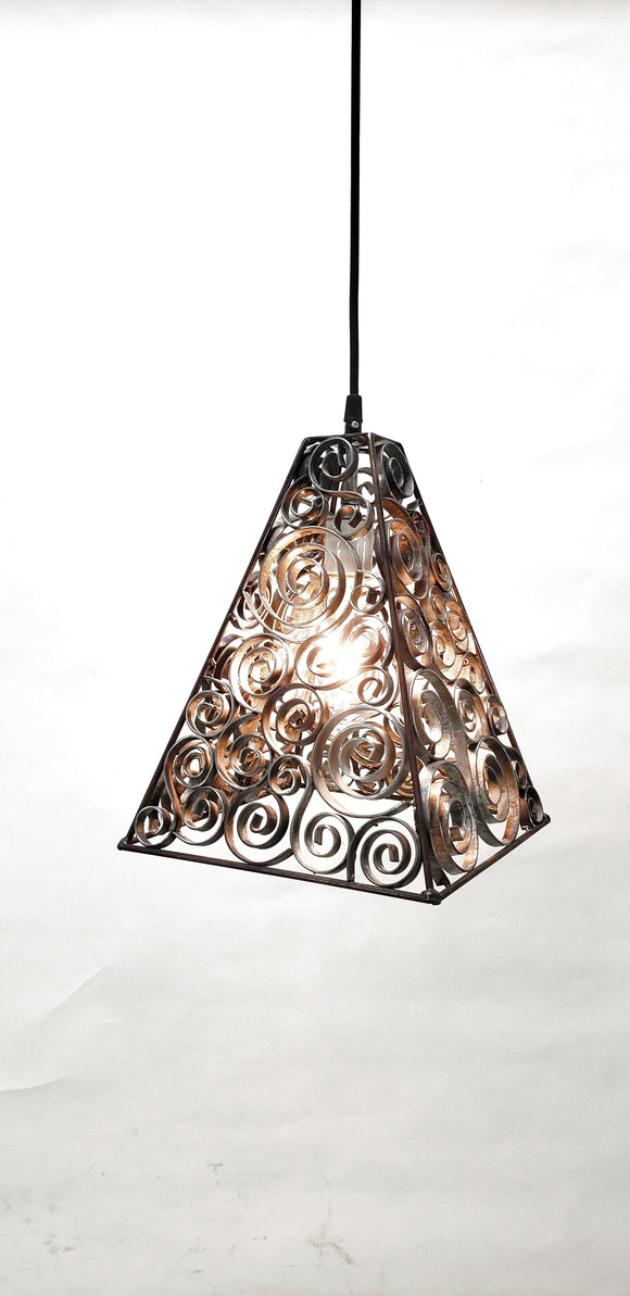 DERVISH Collection - Kolmio - Wine Barrel Ring Swirl Pendant Light
