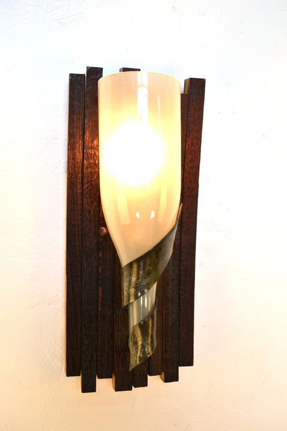 ELEGANCE Collection - Opulent - Wine Barrel Stave & Bottle Sconce