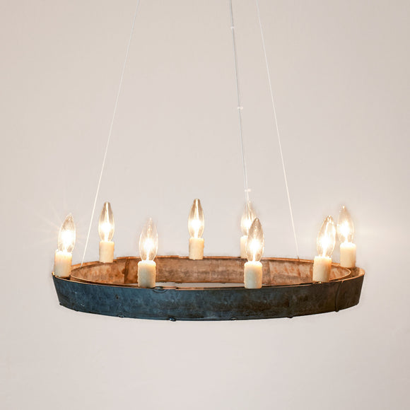 HALO Collection - Coquina - Wine Barrel Ring Chandelier