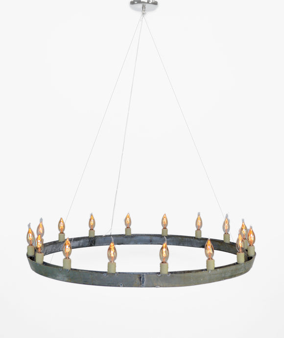 HALO Collection - Striata - Wine Barrel Ring Chandelier