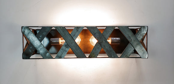 INTERLACE Collection - Kirto - Wine Barrel Ring Vanity Light