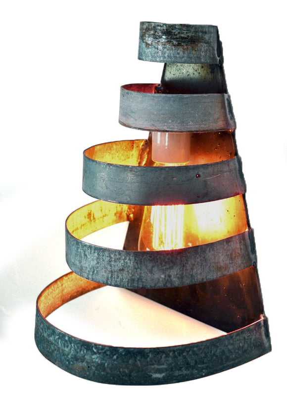 KARTA Collection - Salita - Curved Wine Barrel Ring Wall Sconce