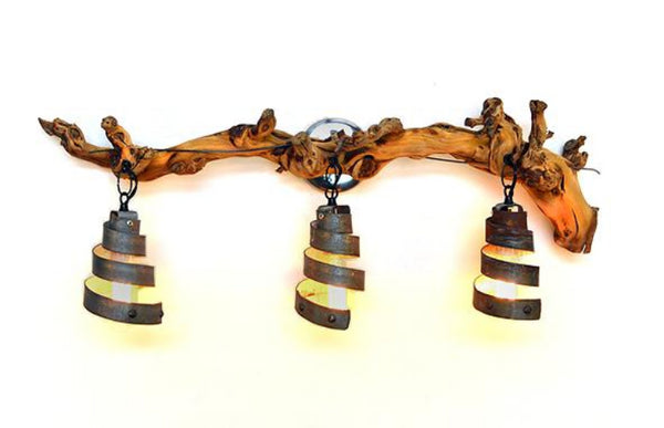 Grapevine and Wine Barrel Ring Vanity Light -Arneis - 100% Recycled and Reclaimed!