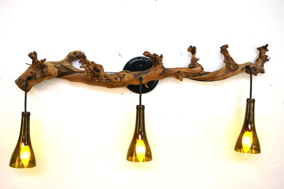 OLD VINE Collection  - Corvina - Grapevine and Wine Bottle Light