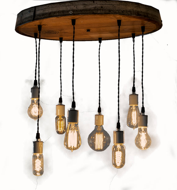 RADIANCE Collection - Resplendent - Wine Barrel Head Chandelier