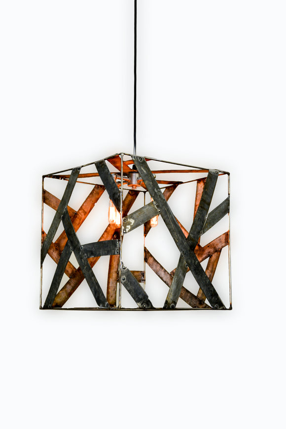 SAFARI Collection - Kubo -Wine Barrel Ring Chandelier