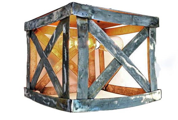 INTERLACE Collection - Gaslamp - Wine Barrel Flush Mount Light