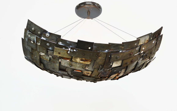 STUDIO Collection - Tesselation - Wine Barrel Ring Chandelier